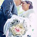 mariage gris ivoire rose bouquet mariee original cereza mademoiselle b