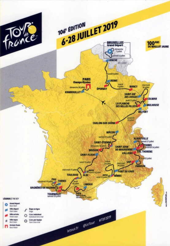 CPM Tour de France 2019 Le tracé