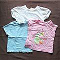 Lot 3 t-shirts basique - 12 mois