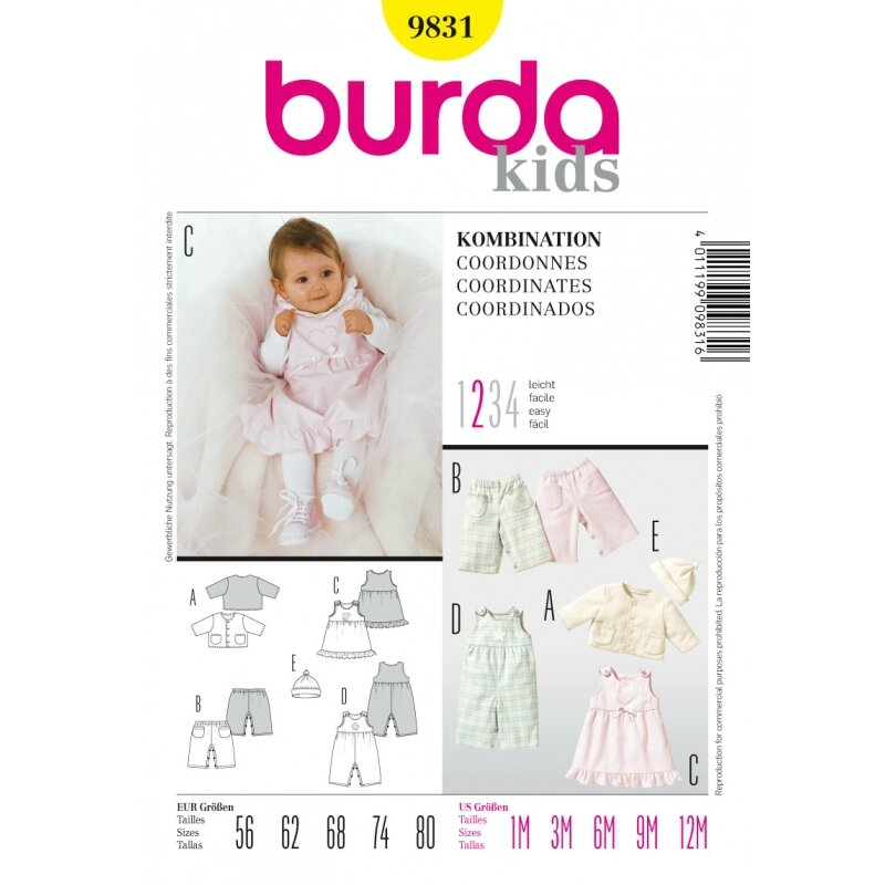 Burda-9831-Baby-Kombination-Gr-56-80