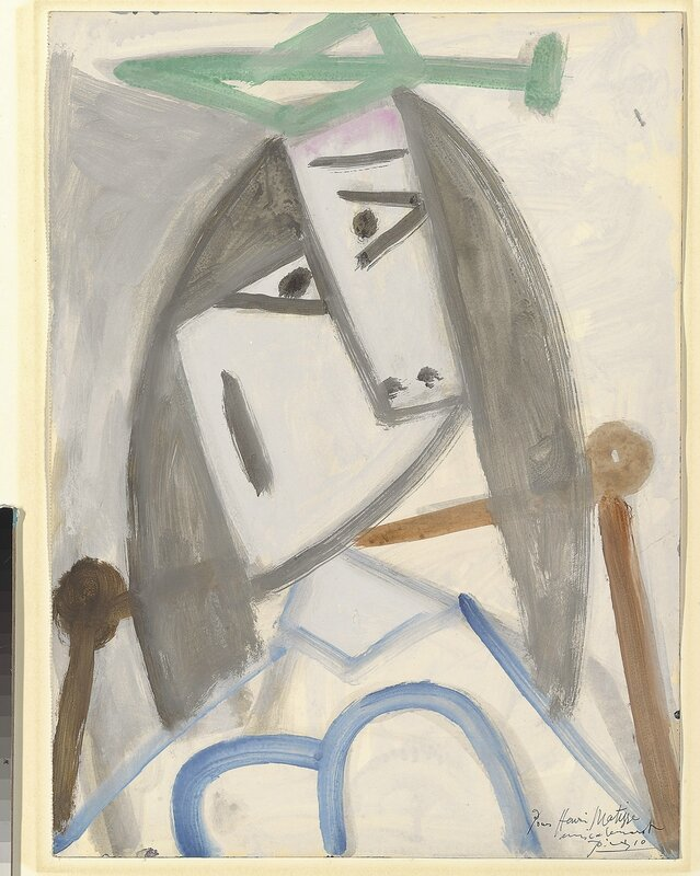 Pablo Picasso, 'Portrait of a Woman Dora Maar', 20 January 1942