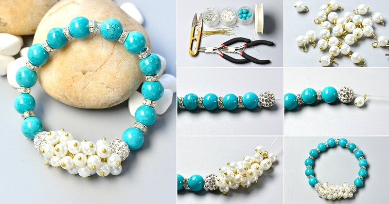 1200-How-to-Make-a-Simple-Beaded-Bracelet-with-Turquoise-Beads-and-Pearl-Beads