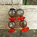 Boucles en perles de verre