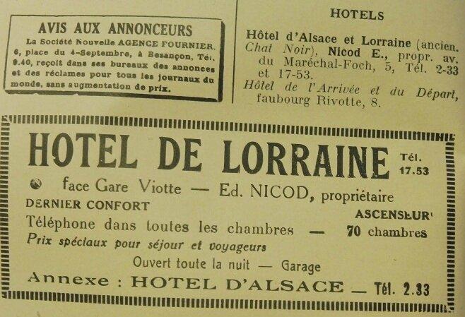 hotel de Lorraine 1936