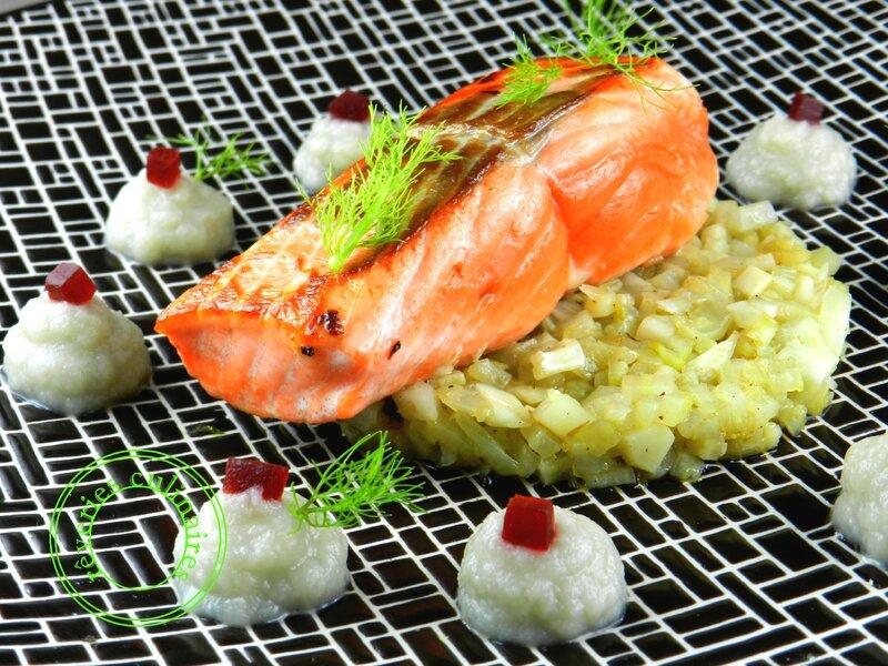 saumon et brunoise de fenouil 1