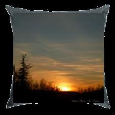 Coussin coucher de soleil