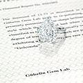 A rare 13.77 carats type iia diamond ring, by cartier