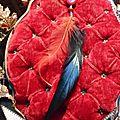 5 pendentif en pierre et plume de toupet 8 €