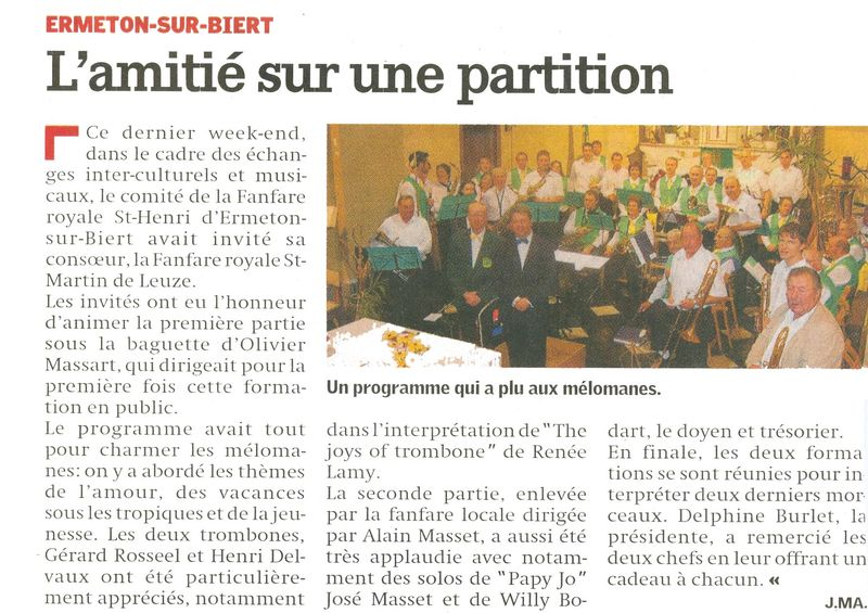 Article Nouvelle Gazette