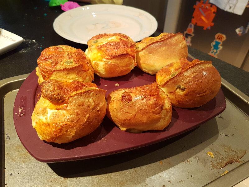Yorkshire pudding olives-mozzarella du confinement