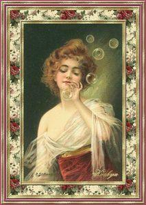 femme aux bulles de savon
