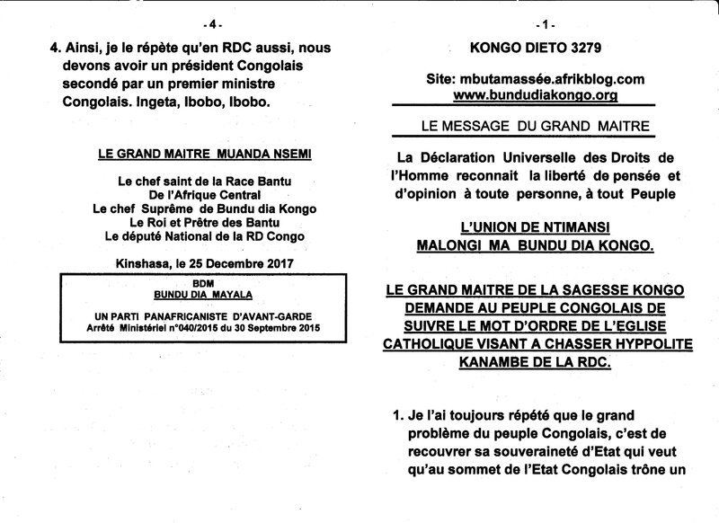 SUIVRE LE MOT D'ORDRE DE L'EGLISE CATHOLIQUE a