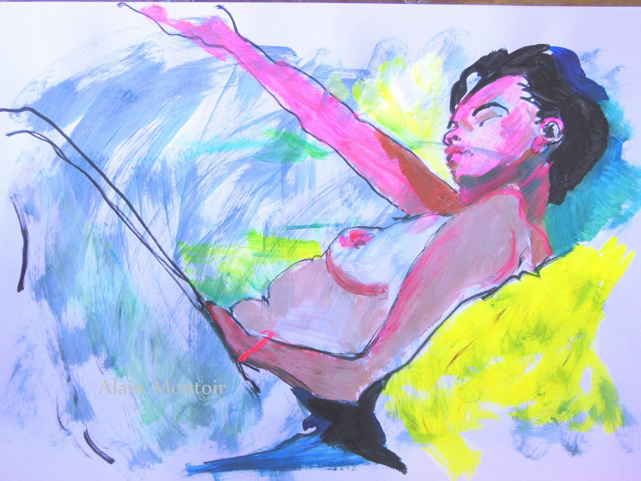 Alain Montoir Galerie Avignon dessin peinture de nu (4)