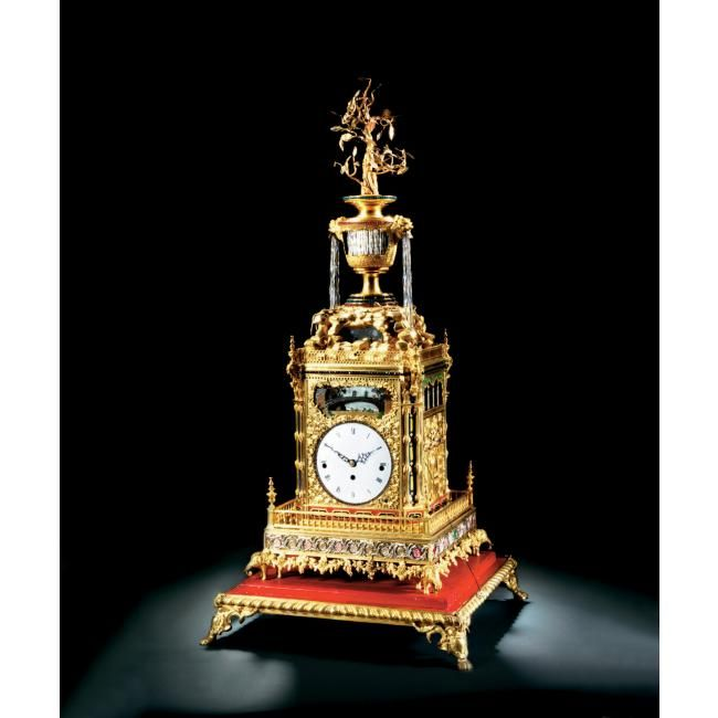 A Magnificent And Imperial Tribute Gilt Brass Musical And Automaton Table Clock Qing Dynasty Qianlong Period Alain R Truong