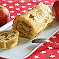 Roulé aux pommes et au caramel au beurre salé
