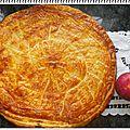 Galette pommes, crème de marron, frangipane