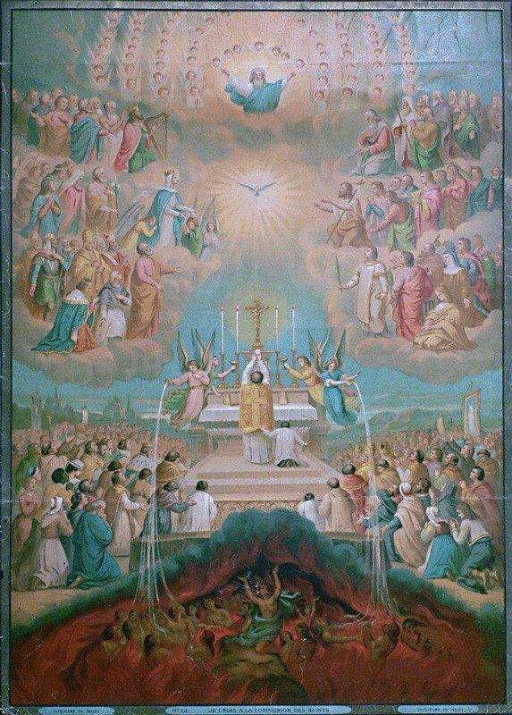 La liturgie, la région de la gloire du Sanctus, la région inférieure
