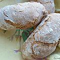 Minis baguettes au levain saveur noisette