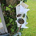 mangeoire pour oiseaux récup