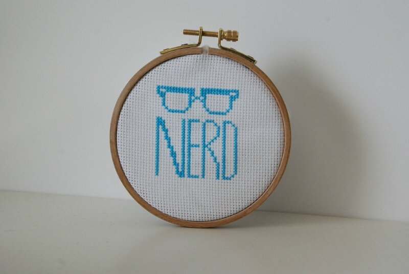 nerd cross stitch