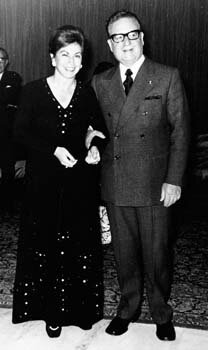 her mother panchita and Salvador Allende 1972