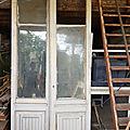 Portes anciennes vitrées de bistrot 200,00 euros vendu