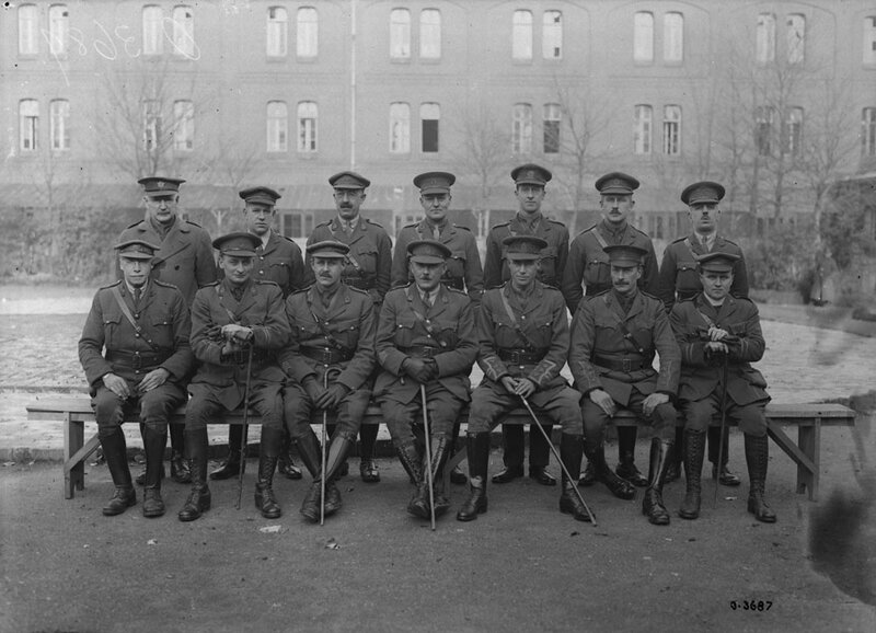 officiers 4°CCCS Vals Nov 1918