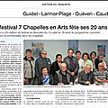 Le festival 7 chapelles en arts fête ses 20 ans