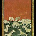 ca 1440-1445 Hofjagdspiel château de Ambras - 10 de Chiens - cartes peintes - Vienne - tarothistorydotcom