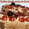 Tartines tomates cerises et chorizo