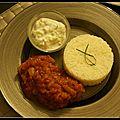Repas indien - raïta à la menthe