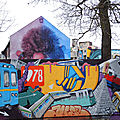 Lurcy-Lévis, Street art city, derrière le mur
