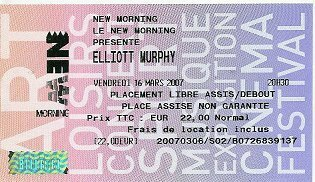 2007 03 Elliott Murphy New Morning Billet