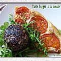 Tarte burger à la tomate