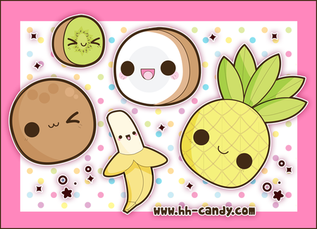 Kawaii_Tropical_Fruits_by_A_Little_Kitty
