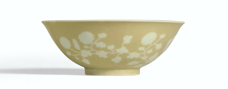 A reserve-decorated café-au-lait bowl, Mark and period of Yongzheng (1723-1735)