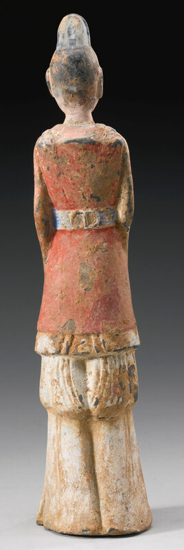 A painted pottery figure of an official, Northern Wei dynasty (386-534)3