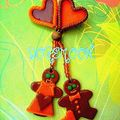 broche couple orange