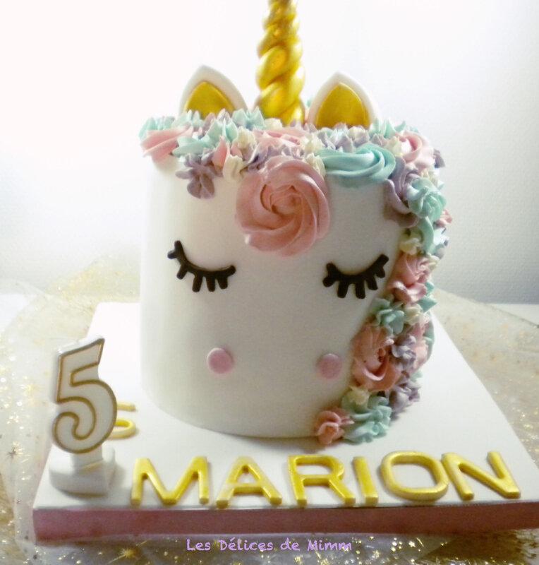Le gâteau licorne de Marion 5