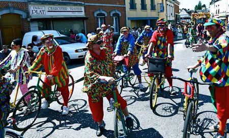 CAVALCADE 2012 clowns vélos