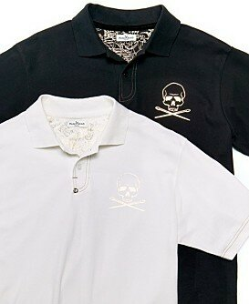 Marc Ecko Cut & Sew Skull Polo Shirt