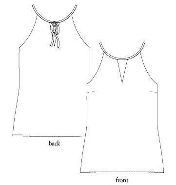 Salme Patterns - Cut out halter top