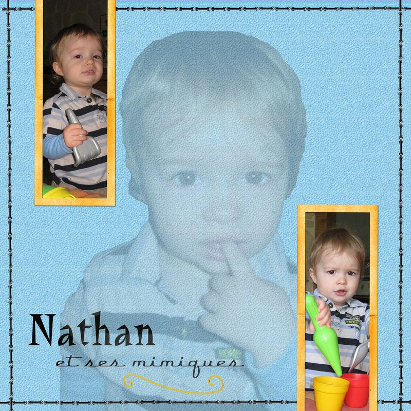 Nathan et ses mimiques