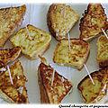 Bouchees de pain perdu aux sardines