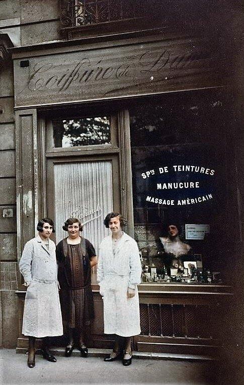 Images d'autrefois-Coiffures dames 1928