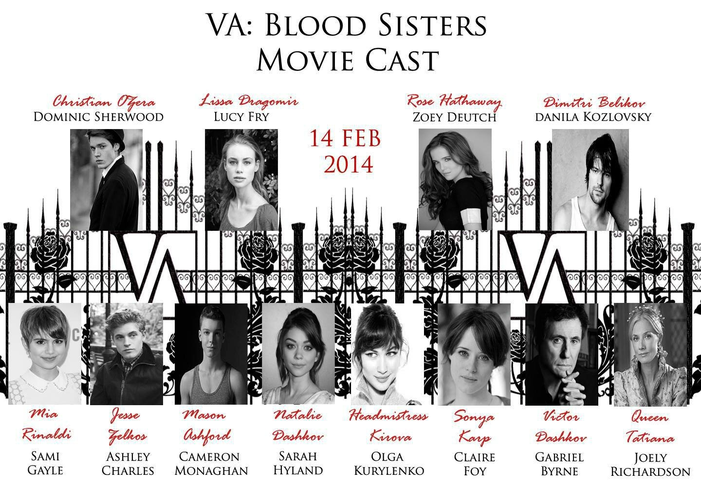 Casting Vampire Academy comple