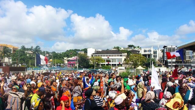 Mayotte manif 150318