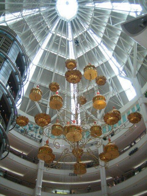 Lustre du magasin dous les Tours Petronas