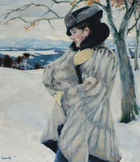 fur coat Edward Cucuel