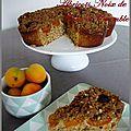 Gâteau noix de coco/ abricots et crumble aux flocons d'avoine